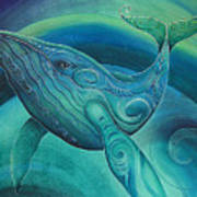 Whale Tohora By Reina Cottier Poster