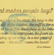 What Makes People Buy Poster