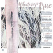 Whatever Pink Feathers Poster