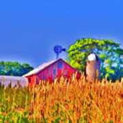 Wheat Farm Near Gettysburg Poster
