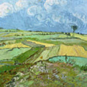 Wheat Fields After The Rain, The Plain Of Auvers Poster