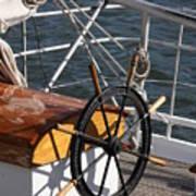 Sailingship Wheel Poster