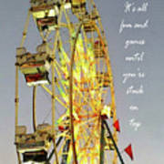 Wheel Of Fortune With Phrase Poster