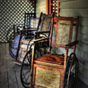 Wheelchairs Of Yesteryear By Kaye Menner Poster