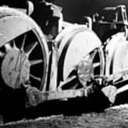 Wheels Of Steam Engine Poster
