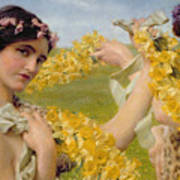 When Flowers Return Poster by Sir Lawrence Alma-Tadema