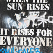 When The Sun Rises Poster