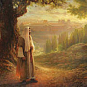 Wherever He Leads Me Poster by Greg Olsen