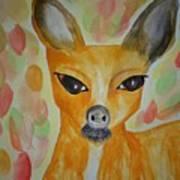 Whimsical Autumn Doe Poster