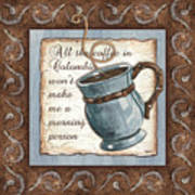 Whimsical Coffee 1 Poster