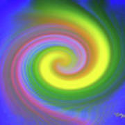 Whimsical Inward Twirls #111 Poster