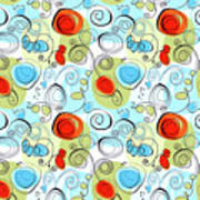 Whimsical Seamless Pattern Poster