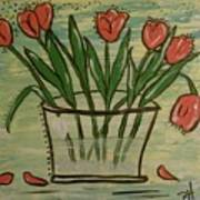 Whimsical Tulips Poster