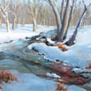 Whippany Brook In Winter Poster