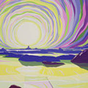 Whirling Sunrise - La Rocque Poster