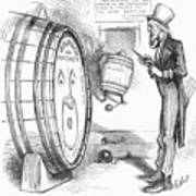 Whiskey Ring Cartoon, 1876 Poster