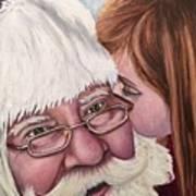 Whispered Wishes Santa  Poster
