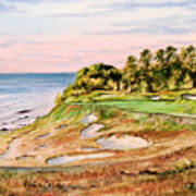 Whistling Straits Golf Course 17th Hole Poster by Bill Holkham