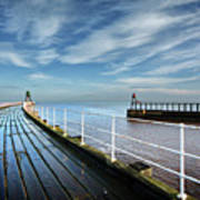 Whitby Piers Poster