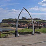 Whitby Whale Bone Arch  Poster