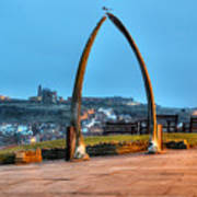 Whitby Whalebone Blue Hour Poster