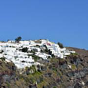 White Architecture In The City Of Oia In Santorini, Greece Poster
