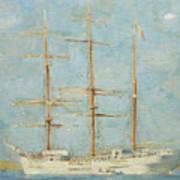 White Barque Poster