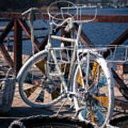 White Bike Poster