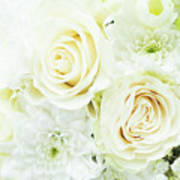 White Bouquet Poster