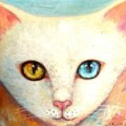 White Cat Poster by Shijun Munns