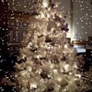 White Christmas Snow Poster