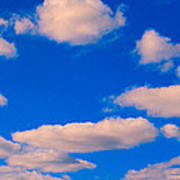 White Clouds In Blue Sky Poster