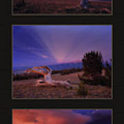 White Clouds Triptych Poster