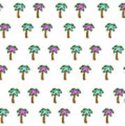 White Epic Palm Tree Print Poster