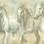 White Horses Poster by Delores Swanson