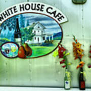 White House Cafe Poster
