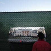 White House Fence Washington Dc Poster