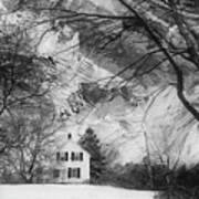 White House In Winter Poster