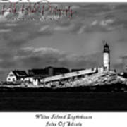 White Island Lighthouse Poster