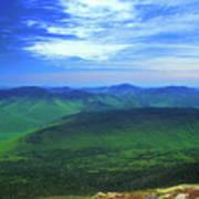 White Mountain Leafout From Franconia Ridge Poster