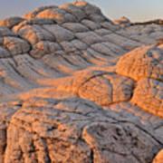 White Pockets Brain Rock Sunrise Poster