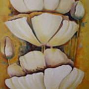 White Poppys Poster
