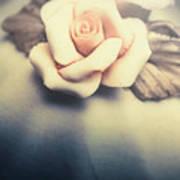 White Porcelain Rose Poster