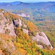 White Side Mountain Fool's Rock In Autumn Poster