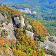 White Side Mountain Fool's Rock In Autumn Vertical Poster