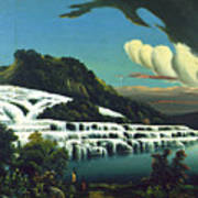 White Terraces, Rotomahana, By William Binzer. Poster