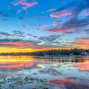 White Trout Lake Sunset - Tampa, Florida  Poster