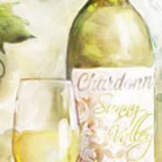 White Wine Watercolor Poster