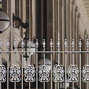 White Wrought Iron Gate In Chicago Poster
