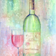 White Zinfandel Poster by Arline Wagner